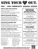 Singing Events
